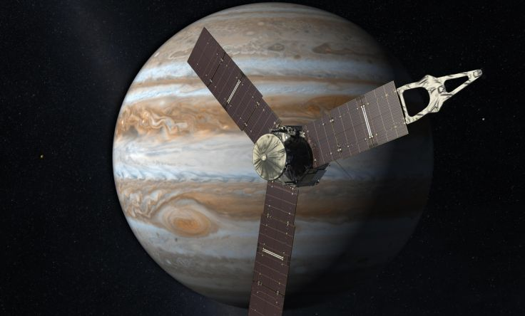 Juno Spacecraft On Jupiter- The Giant Planet